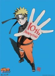 Great Eastern Entertainment Naruto Shippuden 10TH Anniversary Wall Scroll 33 By 44-INCH