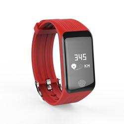 Tlw B3 Fitness Tracker 0.66 Inch Oled Screen Wristband Smart Bracelet IP67 Waterproof Support Sports Mode Continuous Heart Rate Monitor Sleep Monitor Information Reminder Red