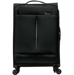 PIERRE CARDIN Ultralight 55CM Carry On Black