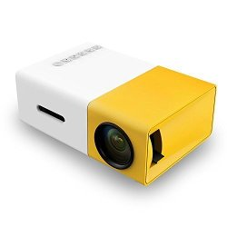 Portable YG300 MINI LED Projector A1 LED Lcd MINI Video Projector - Intenational Version White yellow