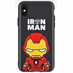 Black Cutie Jelly Case With Avengers Character For Samsung Galaxy NOTE10 Iron Man