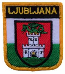 1000 Flags Ljubljana Lithuania Shield Embroidered Patch Badge