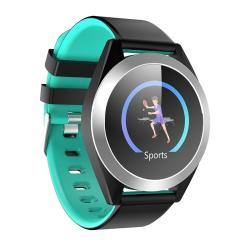 G50S 1.3 Inch Ips Color Screen Smartwatch IP67 Waterproof Silver Edge Support Call Reminder heart Rate Monitoring blood Pressure Monitoring sleep Monitoring sedentary Reminder Turquoise