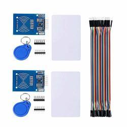 Sunhokey Rfid Kit Mifare RFID-RC522 Rf Ic Card Reader Sensor Module With S50 Blank Card And Key Ring For Arduino Raspberry Pi 40PIN Male