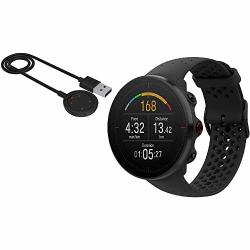 VANTAGE Polar M Multi Sport Gps Heart Rate Watch - Black With USB Charging Cable M l
