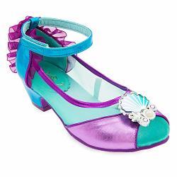 ARIEL Disney Costume Shoes For Kids Size 11 12 Yth Multi