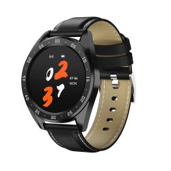 X10 1.3INCH Ips Color Screen Smart Watch IP67 Waterproof Leather Watchband Support Call Reminder heart Rate Monitoring blood Pressure Monitoring blood Oxygen Monitoring Black