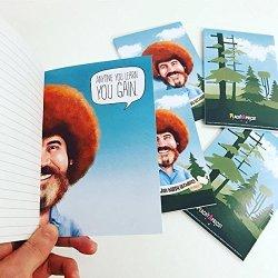 PeachyApricot Bob Ross Set Of Two Notebooks