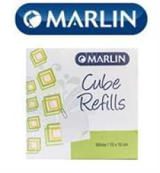 Marlin Cube Refills White 10X10CM In Shrink-wrap.