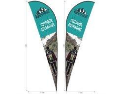 Legend 4M Sharkfin Double Sided Flying Banner Skin