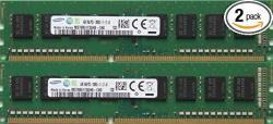 Samsung Original 8GB Kit 2 X 4GB 240-PIN Dimm DDR3 PC3-12800 Desktop Memory Module