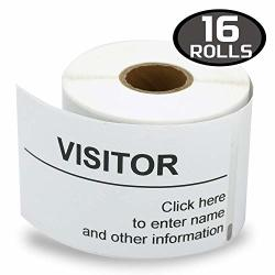 "16 Rolls Dymo 30857 Compatible 2.25"" X 4"" Visitor Name Tag & Badge Labels Compatible With Dymo 450 450 Turbo 4XL And Many More"