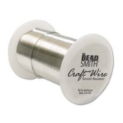 Beadsmith Heavy 16 Gauge Tarnish Resistant Copper Wire 8-YARD 7.3M Silver Color
