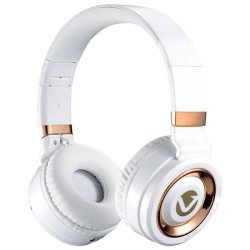 Volkano Lunar Series Bluetooth Headphones White And Rose Gold