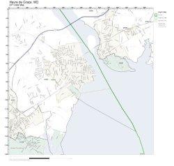 Working Maps Zip Code Wall Map Of Havre De Grace Md Zip Code Map Laminated