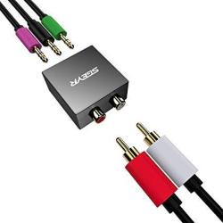 5.1 Audio Console Adapter Convert Stereo Rca To 3 X 1 8 3.5MM Audio Jack For 5.1 Multimedia Speaker
