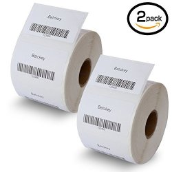 "BETCKEY 2 Rolls Dymo 30334 Compatible 2-1 4"" X 1-1 4"" 57MM X 32MM Medium Multipurpose Labels Bpa Free"
