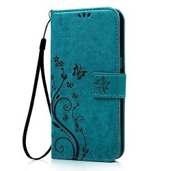 ZTE Zmax Pro Carry Z981 Wallet Case - Auideas Fashion Floral Butterfly Embossed Pu Leather Mag