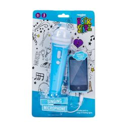 Microphone With Lights & Music Blue
