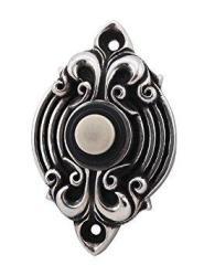 Vicenza Designs D4006 Sforza Doorbell Antique Silver