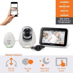 Samsung Wisenet SEW-3057WN Babyview Wi-fi Remote Viewing Baby Video  Monitoring System Including Babyview Watch And Temperature H | R5769 00 |  Baby