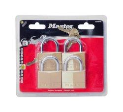 Master Lock 50 Mm Brass Padlocks 4-PACK