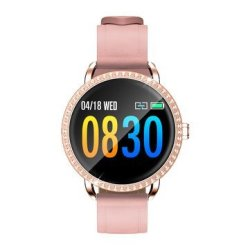 Sony Bakeey H7 Heart Rate Blood Pressure Oxygen Monitor Fashion Female Crystal Smart Watch