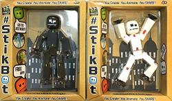 Stikbot Black And White Action Figures With Black Suction Cups Black & White Duo
