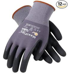 Atg 34-874 L Maxiflex Ultimate - Nylon Micro-foam Nitrile Grip Gloves - Black gray - Large - 12 Pair Per Pack