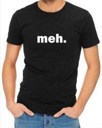 Mens Meh T-Shirt Black Large