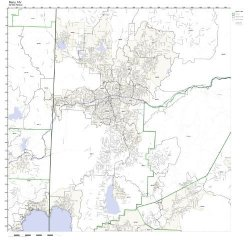 Working Maps Reno Nv Zip Code Map Not Laminated