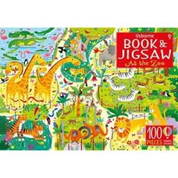 Usborne Book And Jigsaw: At The Zoo Mixed Media Product