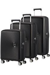 American Tourister Soundbox 3 Piece Set Black