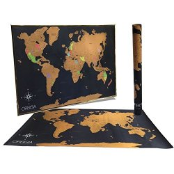 Scratch Off World Map With Us States.Q5 Products Large Scratch Off World Map Poster With Us States