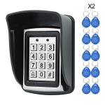 Hfeng 125KHZ Rfid Metal Access Control Keypad Waterproof Cover Standalone Access Controller For Door Lock SYSTEM+20 Pcs Keyfobs