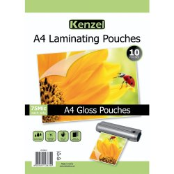 KENZEL - A4 Laminating Pouches 150 Micron 10PC