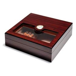 A Comely Glasstop Cigar Humidor Rosewood And Spanish Cedar Wood Lined For 25 Cigars Perfect Desktop Display Cigar Box Set With H