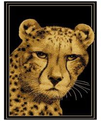 LUSH LIVING Rug Safari Cheetah 80 X 120 Black