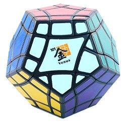Venus MF8 Bermuda Megaminx Black Dodecahedron Puzzle Cube Twisty Puzzle Bermudaminx Toy