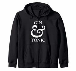 Gin And Tonic Design Zip Hoodie