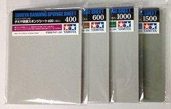 USA Tamiya Sanding Sponge Sheet 4-TYPE 400 600 1000 1500 Set