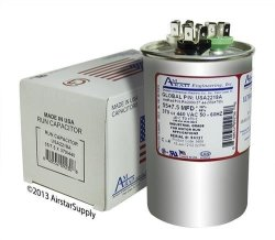 AmRad Carrier Bryant Payne HC98JA057D Replacement - 55 + 7 5 Uf Mfd 370 440  Vac Round Dual Universal Capacitor Made In The U s a  | R | DIY Hardware |