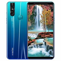 Jkred X27 Plus Eight Core 6.3 Inch Dual HD Camera Smartphone Android 8.0 4GB Touch Screen Wifi Blue-tooth Gps 3G Call Mobile Phone Blue