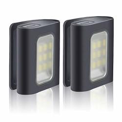 Running Light 2PACK Reflective Running Gear For Runners USB Rechargeable LED Light Clip On Running Lights With Runners And Joggers For Camping Hiking Running