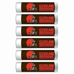 Nfl Cleveland Browns Gifts For Men And Women Premium Lip Balm 6-PACK With Spf 15 Beeswax Coconut Oil Aloe Vera. Ideal For Mother's Day