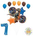 Jurassic World 7TH Birthday Party Supplies Raptor Balloon Bouquet Decorations