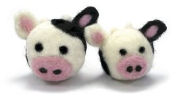 Dimensions Needlecrafts Round And Wooly Cows Needle Felting Kit