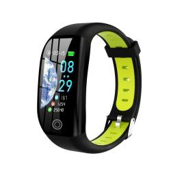 F21 1.14 Inch Tft Color Screen Smart Bracelet Support Call Reminder Heart Rate Monitoring blood Pressure Monitoring sleep Monitoring blood Oxygen Monitoring Black+green