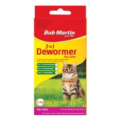 Bob Martin 3IN1 Dewormer Cats 10G