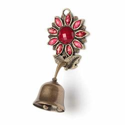 Anahbell Shopkeepers Door Bell Store Entry Door Chime Home Decoration - Sunflower Spring Bell Red